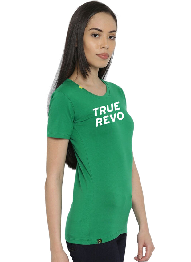 Slim Fit Active Comfy Stretch Cotton Yoga Tshirt - Women's Green TRUEREVO
