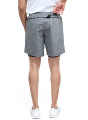 "7"" Sports Shorts with Phone Pocket - Special 2 layer Anthra Edition - Dark Grey"