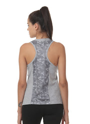 Gym & Training Tank Top Vest with Performance Mesh Back - Grey