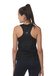 Gym & Training Tank Top Vest with Performance Mesh Back - Black