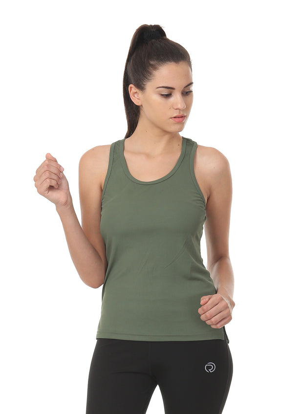 Light Dryfit Running & Sports Tank Top - SAGE Green