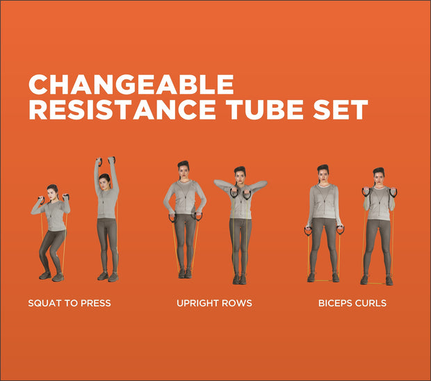 Changeable Resistance Tube Set (With 3 Tube Strengths)
