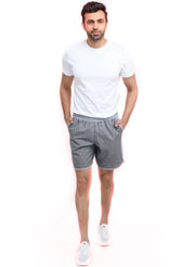 "7"" Shorts With Zipper Back Pocket""(Detachable Outer) - Anthra Grey"