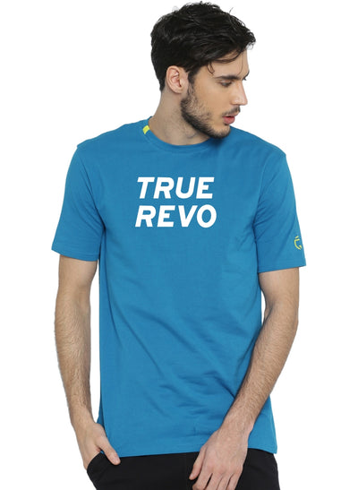 Active Comfy Stretch Cotton Yoga Tshirt - Men's Blue TRUEREVO