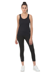 Light Dryfit Running & Sports Tank Top - Black