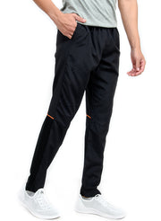 Men's Sports Track Pant with zipper back pocket - BLACK