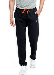 SPS Track - 2-in-1 Sports Track Pant with Phone Pocket - Double Layered - BLACK