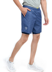 "7"" Sports Shorts with Phone Pocket - Special 2 layer Anthra Edition - Navy"