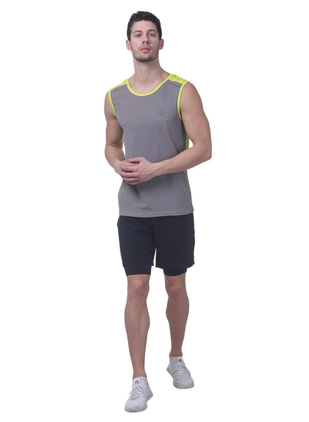 Sports Dry Fit Tank Top Vest for Running & Gym - Grey