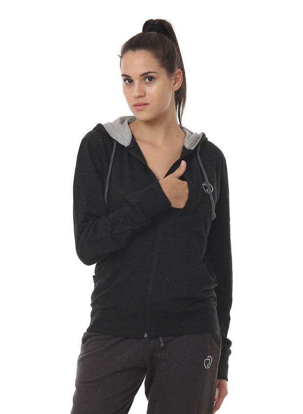 WOMEN'S  TRAINING HOOD JACKET - Black