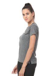 WOMEN'S  RUNNING BASIC T-SHIRT - DARK ANTHRA