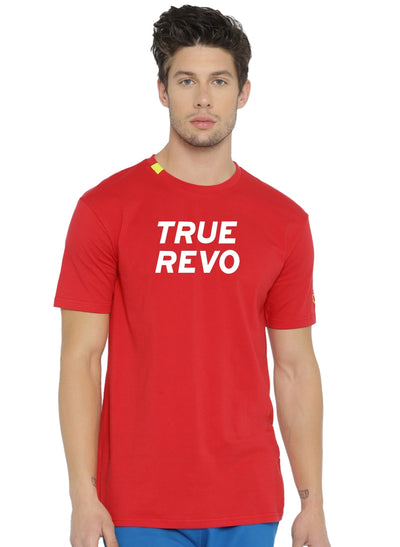 Active Comfy Stretch Cotton Yoga Tshirt - Men's Red TRUEREVO