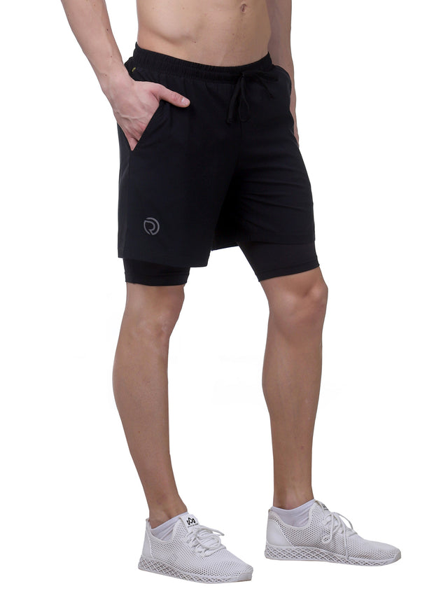 "7"" Shorts With Phone Pocket - Men's Deep Black"