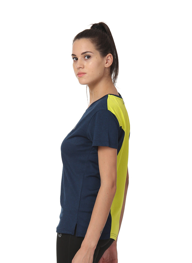 Ultra Breathable Dryfit Sports Tshirt with Mesh Back - Anthra Navy
