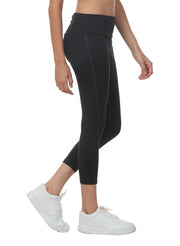 Women's Stretch Dryfit 7/8th Legging with Waist Phone Pocket - Graphite Grey