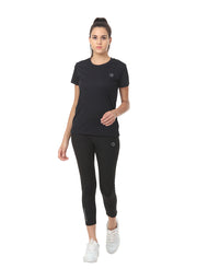 Light Dryfit Running & Sports Tshirt - Black