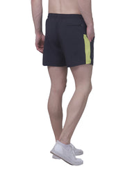 "5"" Sports Shorts with 2 side pockets & zipper back pocket - Dark Grey"