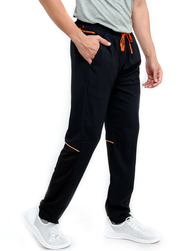 SPS Track - Sports Track Pant with Phone Pocket - Double Layered - BLACK