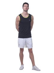 Sports Dry Fit Tank Top Vest for Running & Gym - Black