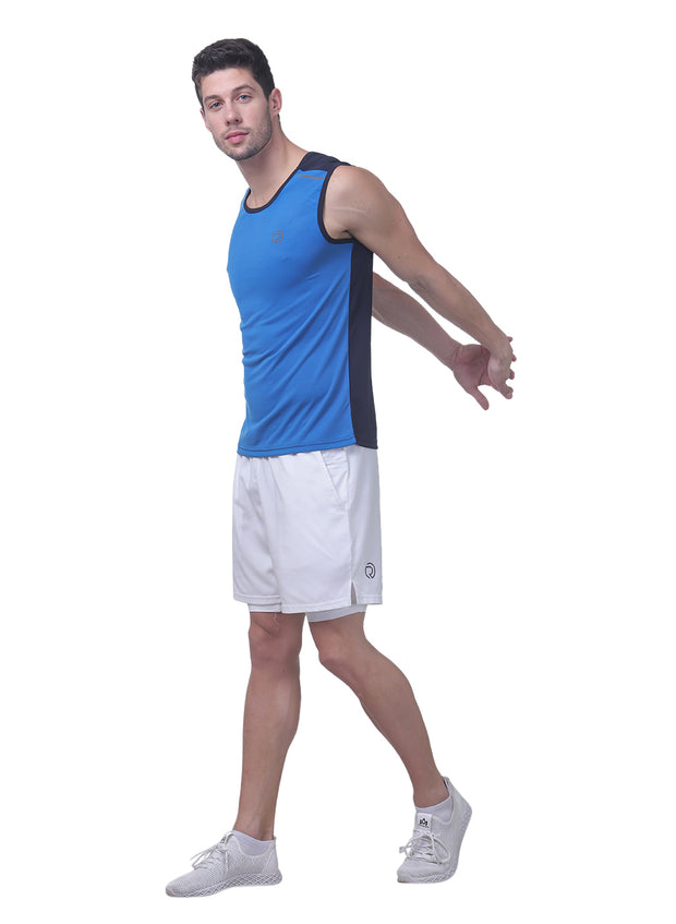 Sports Dry Fit Tank Top Vest for Running & Gym - Blue