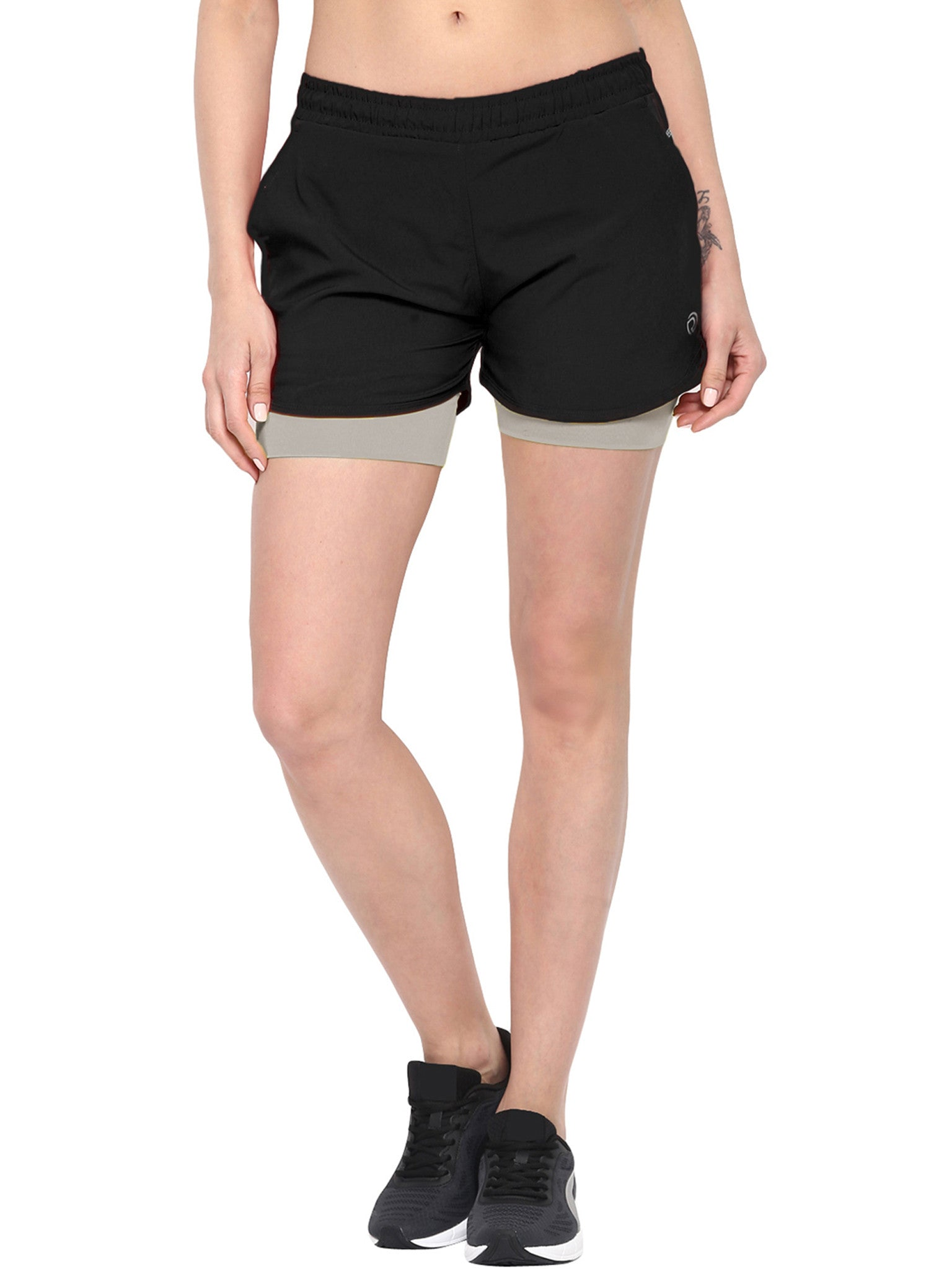 Shorts With Phone Pocket - The SPS Grey Black