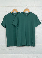 Men's Premium Cotton Tshirts (Pack of 2- Green,Green) - NITLON * TRUEREVO