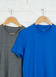 Men's Premium Cotton Tshirts  (Pack of 2- Blue,Grey) - NITLON * TRUEREVO