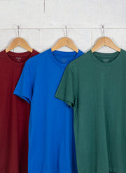 Men's Premium Cotton Tshirts  (Pack of 3- Blue, Green, Maroon ) - NITLON * TRUEREVO