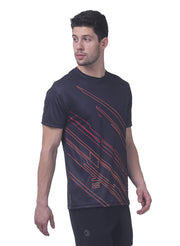 Men's Reflective dryfit tshirt with flow graphics - Black