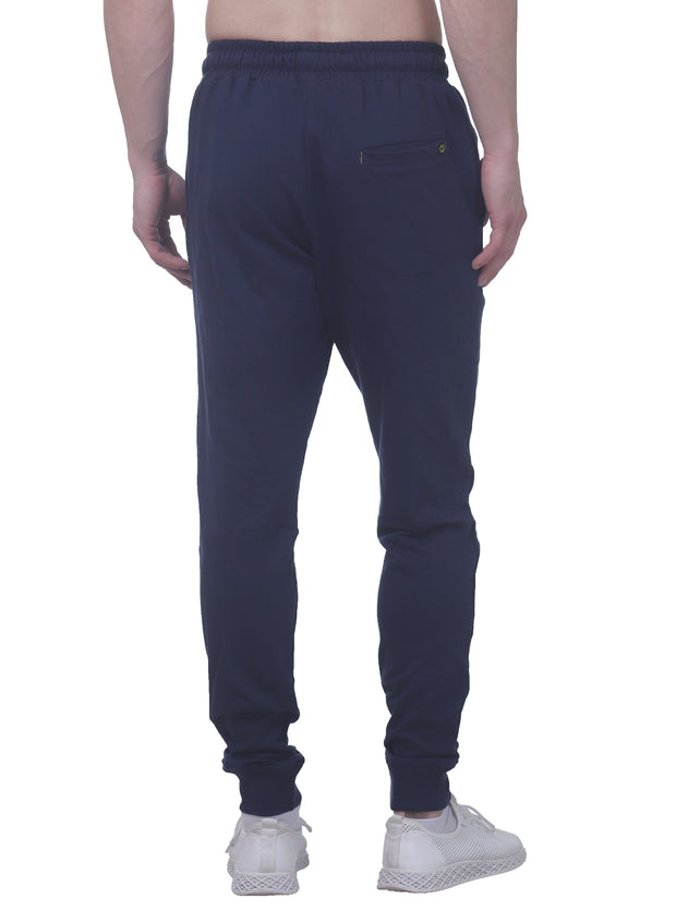 Training & Travel Jogger Pant with 2 Zippered side Pockets for Men - Navy
