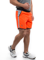 "7"" Detachable Shorts Combo with Phone Pocket - Orange"