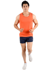 Professional Running Shorts with inner brief & key pocket - Navy