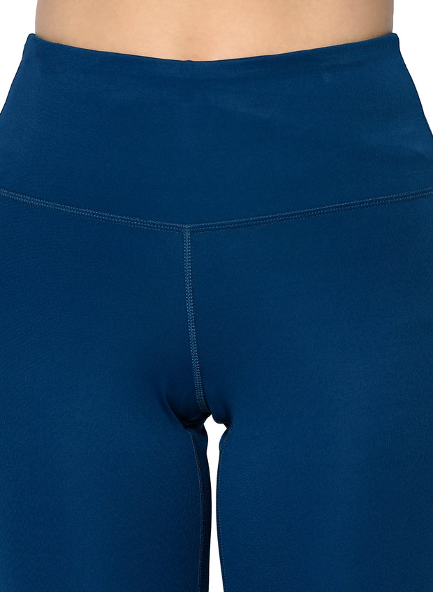 Women's Stretch Dryfit 7/8th Legging with Waist Phone Pocket & Zipper back pocket - Poseidon Blue
