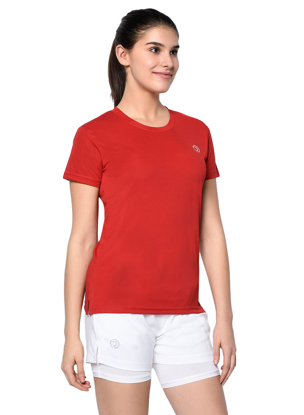 Light Dryfit Running & Sports Tshirt - RED