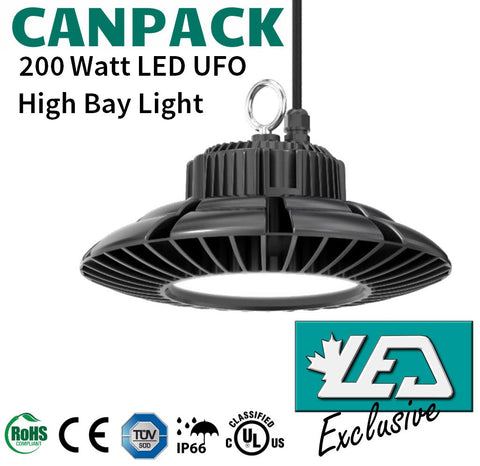 LED High Bay Light - 200W - 3000-6500K - 25,000lm - CanPack-200WiU