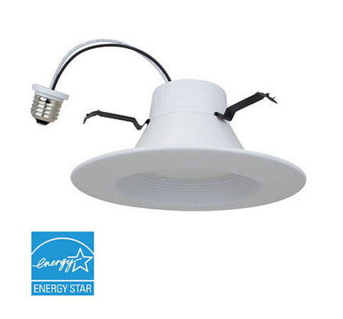 LED Downlight - 10 Watt - 3000k - 675 Lumens - E26 Base - DLC-1000e