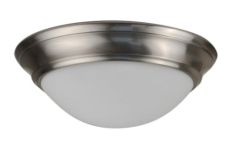 11 Inch LED Flush Mount FMS Streamlined Nickle Finish - 14 Watt - 3000, 4000K - 980lm