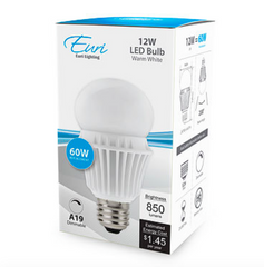 A19 LED Bulb - 12 Watt - 3000K - 850lm - EA19-5000