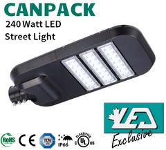 LED Road Lighting - 240W - 3000-6500K - 24,000-26,400lm - CanPack-240WiL