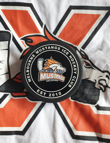 Melbourne Mustangs Game Puck