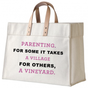 Parenting Canvas and Leather Tote