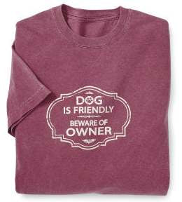 Dog is friendly  short sleeve unisex T shirt