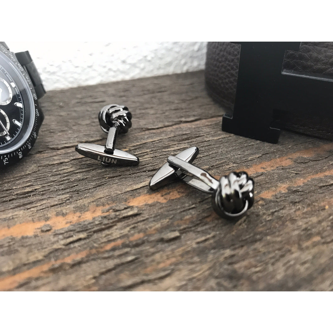 Black Edition - Stainless Steel Knot Cufflinks
