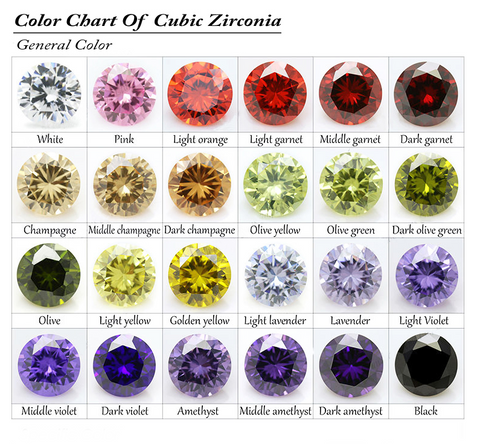 La Mia Cara Jewelry - CZ Diamonds Colors