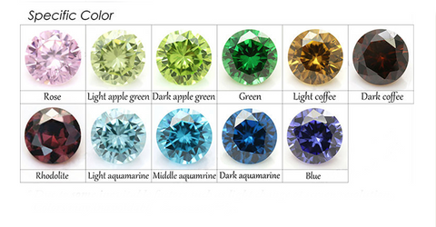 La Mia Cara Jewelry - Specific Color CZ Diamonds