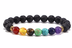 La Mia Cara - Jewelry & Accessories -Black Lava  Buddha Bracelet Man