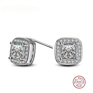 La Mia Cara Jewelry & Accessories - Eternity - Clear Cubic Zirconia Square Stud Earrings