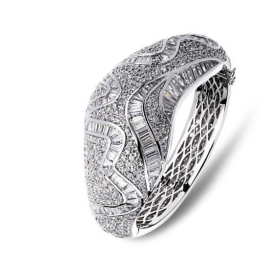 La Mia Cara Jewelry - Lucrezia - CZ Diamonds Luxury Bangle Bracelet