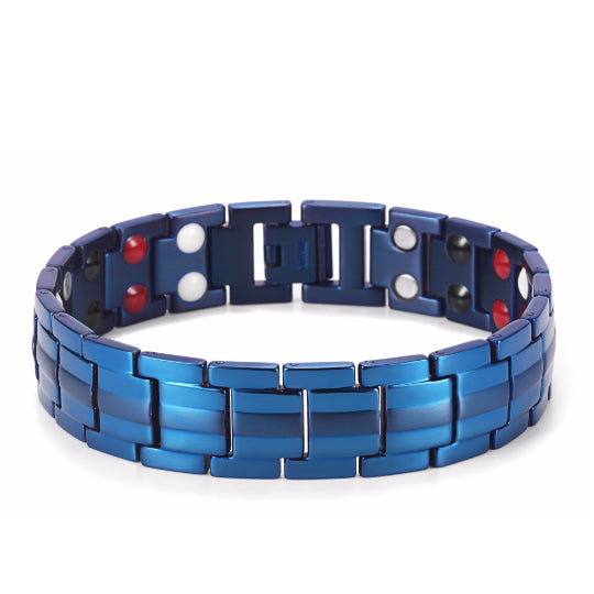 La Mia Cara Jewelry - Sportivo Men - Blue Health Titanium Magnetic Bracelet
