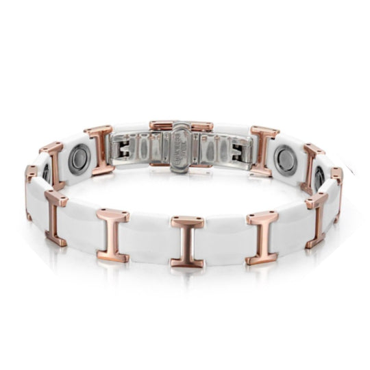 La Mia Cara Jewelry - Health Care Jewelry Women - Rainso White Magnetic Bracelet
